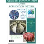 """Pieced 18"""" Tuffet Fusible Interfacing Pattern with Instructions by Tuffet Source Table Toppers, Tuffets & Runners - OzQuilts"""