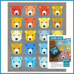 Bjorn Bear Quilt Kit by Elizabeth Hartman - includes Fabric, Pattern & Binding by Elizabeth Hartman Kits - OzQuilts