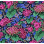 Rose and Hydrangeas - Navy by The Kaffe Fassett Collective Rose and Hydrangea - OzQuilts