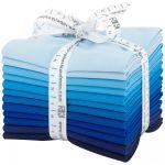 Fat Quarter Kona Cotton  Waterfall Palette, 12 Fat Quarters by Robert Kaufman Fabrics Fat Quarter Packs - OzQuilts
