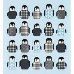 Arctic Flannel Penguin Party Quilt Kit by Elizabeth Hartman by Elizabeth Hartman Kits - OzQuilts