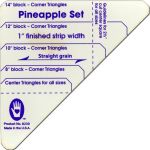 "Marti Michell 1"" Pineapple Patchwork Template Set by Marti Michell Quilt Blocks - OzQuilts"