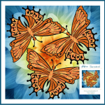 Dance of the Butterflies Lasercut and Fused Applique pieces by Joanne Hoffman by JoAnn Hoffman Kits - OzQuilts