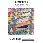 Cotter Tempter Patchwork Quilt Block Template set by Jen Kingwell Designs by Jen Kingwell Designs Jen Kingwell Designs Templates - OzQuilts