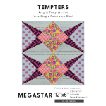 Megastar Tempter Patchwork Quilt Block Template set by Jen Kingwell Designs by Jen Kingwell Designs Jen Kingwell Designs Templates - OzQuilts
