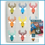 Dwight the Deer Quilt Kit Adventure by Elizabeth Hartman using Kona Cotton & Essex Yarn Dyed Linen by  Elizabeth Hartman - OzQuilts