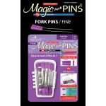 Magic Pins Fork Fine 30 pieces per container by Taylor Seville Fork Pins - OzQuilts