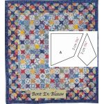 Bont En Blauw Halo Patchwork Template Set from Millefiori Quilts 4 by Willyne Hammerstein by OzQuilts Millefiori Book 4 & Templates - OzQuilts