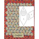 Confetti Halo Patchwork Template Set from Millefiori Quilts 4 by Willyne Hammerstein by OzQuilts Millefiori Book 4 & Templates - OzQuilts