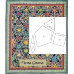 Fiesta Gitana Halo Patchwork Template Set from Millefiori Quilts 4 by Willyne Hammerstein by OzQuilts Millefiori Book 4 & Templates - OzQuilts