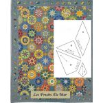 Les Fruits De Mer Halo Patchwork Template Set from Millefiori Quilts 4 by Willyne Hammerstein by OzQuilts Millefiori Book 4 & Templates - OzQuilts