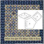 When You Get The Blues  Halo Patchwork Template Set from Millefiori Quilts 4 by Willyne Hammerstein by OzQuilts Millefiori Book 4 & Templates - OzQuilts