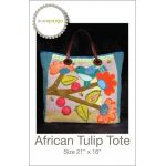 African Tulip Tote Pattern by Sue Spargo Applique - OzQuilts