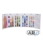Aurifil Cotton Mako' Colour Chart - 270 Colours - Actual Thread by Aurifil Thread Colour Charts - OzQuilts
