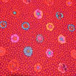 Guinea Flower - Red by The Kaffe Fassett Collective Guinea Flower - OzQuilts