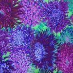 Japanese Chrysanthemum - Purple by The Kaffe Fassett Collective Japanese Chrysanthemum - OzQuilts