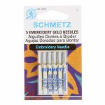 Schmetz Gold Titanium Embroidery, Machine Needles, Size 90/14 by Schmetz Sewing Machines Needles - OzQuilts