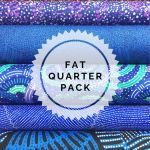 Aboriginal Art Fabric 5 Fat Quarter Bundle - Blue Green Colourway by M & S Textiles Fat Quarter Packs - OzQuilts