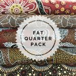 Aboriginal Art Fabric 5 Fat Quarter Bundle -  Brown by M & S Textiles Fat Quarter Packs - OzQuilts