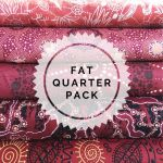 Aboriginal Art Fabric 5 Fat Quarter Bundle -  Red by M & S Textiles Fat Quarter Packs - OzQuilts