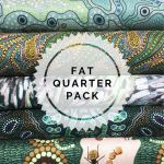 Aboriginal Art Fabric 5 Fat Quarter Bundle - Green Colourway by M & S Textiles Fat Quarter Packs - OzQuilts