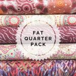 Aboriginal Art Fabric 5 Fat Quarter Bundle - Pink & Red Colourway by M & S Textiles Fat Quarter Packs - OzQuilts