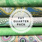 Aboriginal Art Fabric 5 Fat Quarter Bundle - Bright Green Colourway by M & S Textiles Fat Quarter Packs - OzQuilts