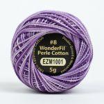Wonderfil Eleganza, Wisteria (EL5GM1001)  8wt Cotton Thread 5g balls by Wonderfil Eleganza Perle 8 Balls Eleganza 8wt Cotton - OzQuilts