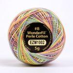 Wonderfil Eleganza, Tropical Garden (EL5GM1002)  8wt Cotton Thread 5g balls by Wonderfil Eleganza Perle 8 Balls Eleganza 8wt Cotton - OzQuilts