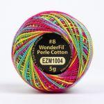 Wonderfil Eleganza, Bouncy Castle (EL5GM1004)  8wt Cotton Thread 5g balls by Wonderfil Eleganza Perle 8 Balls Eleganza 8wt Cotton - OzQuilts