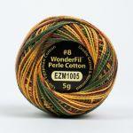 Wonderfil Eleganza, Savanna (EL5GM1005)  8wt Cotton Thread 5g balls by Wonderfil Eleganza Perle 8 Balls Eleganza 8wt Cotton - OzQuilts