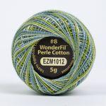 Wonderfil Eleganza, Everglades (EL5GM1012)  8wt Cotton Thread 5g balls by Wonderfil Eleganza Perle 8 Balls Eleganza 8wt Cotton - OzQuilts