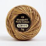 Wonderfil Eleganza, Pumpernickel (EL5GM1015)  8wt Cotton Thread 5g balls by Wonderfil Eleganza Perle 8 Balls Eleganza 8wt Cotton - OzQuilts