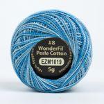 Wonderfil Eleganza, Water Slide (EL5GM1019)  8wt Cotton Thread 5g balls by Wonderfil Eleganza Perle 8 Balls Eleganza 8wt Cotton - OzQuilts