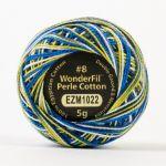 Wonderfil Eleganza, City Lights (EL5GM1022)  8wt Cotton Thread 5g balls by Wonderfil Eleganza Perle 8 Balls Eleganza 8wt Cotton - OzQuilts