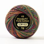 Wonderfil Eleganza, Silk Sari (EL5GM1023)  8wt Cotton Thread 5g balls by Wonderfil Eleganza Perle 8 Balls Eleganza 8wt Cotton - OzQuilts
