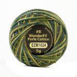 Wonderfil Eleganza, Cedar Grove (EL5GM1024)  8wt Cotton Thread 5g balls by Wonderfil Eleganza Perle 8 Balls Eleganza 8wt Cotton - OzQuilts