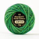Wonderfil Eleganza, Canopy (EL5GM1034)  8wt Cotton Thread 5g balls by Wonderfil Eleganza Perle 8 Balls Eleganza 8wt Cotton - OzQuilts