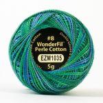 Wonderfil Eleganza, Lily Pond (EL5GM1035)  8wt Cotton Thread 5g balls by Wonderfil Eleganza Perle 8 Balls Eleganza 8wt Cotton - OzQuilts