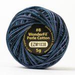 Wonderfil Eleganza, Nocturnal (EL5GM1038)  8wt Cotton Thread 5g balls by Wonderfil Eleganza Perle 8 Balls Eleganza 8wt Cotton - OzQuilts