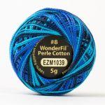 Wonderfil Eleganza, Space Station (EL5GM1039)  8wt Cotton Thread 5g balls by Wonderfil Eleganza Perle 8 Balls Eleganza 8wt Cotton - OzQuilts