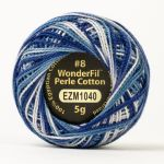 Wonderfil Eleganza, Blizzard (EL5GM1040)  8wt Cotton Thread 5g balls by Wonderfil Eleganza Perle 8 Balls Eleganza 8wt Cotton - OzQuilts