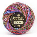Wonderfil Eleganza, Sugar Rush (EL5GM1043)  8wt Cotton Thread 5g balls by Wonderfil Eleganza Perle 8 Balls Eleganza 8wt Cotton - OzQuilts