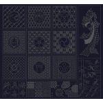 Wagara Sashiko Panel Selection Navy by QH Textiles Panels - OzQuilts