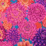Dancing Dahlias - Red by The Kaffe Fassett Collective Dancing Dahlias - OzQuilts