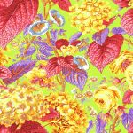 Rose and Hydrangeas - Citrus by The Kaffe Fassett Collective Rose and Hydrangea - OzQuilts