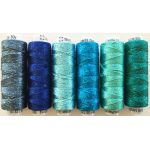 Dazzle Thread Pack- Aruba Blue by Wonderfil  Sue Spargo Dazzle Rayon & Metallic - OzQuilts