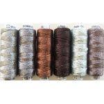 Dazzle Thread Pack- Caffeine by Wonderfil  Sue Spargo Dazzle Rayon & Metallic - OzQuilts