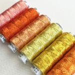 Dazzle Thread Pack- Coral Cascade by Wonderfil  Sue Spargo Dazzle Rayon & Metallic - OzQuilts