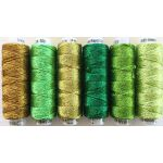 Dazzle Thread Pack- Green with Envy by Sue Spargo Dazzle Sue Spargo Dazzle Rayon & Metallic - OzQuilts